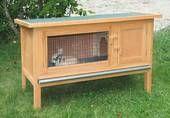 Kaninchenstall FRED - mit großem Laufbereich