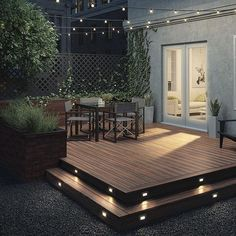 Building A Deck 695876579910841057 - Create a complete look with Deckorators Heritage Deck Boards and Heritage Fascia, shown here in Riverhouse. Back Garden Design, Backyard Patio Designs, Backyard Ideas, Backyard Pools, Deck Landscaping, Small Backyard Decks, Small Deck Designs, Small Decks, Modern Backyard