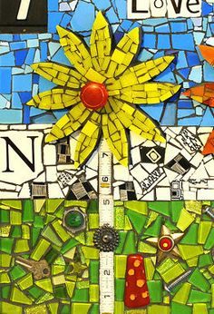 Another cute mixed media mosaic by Flair Robinson