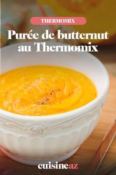 La purée est un jeu d'enfant à réaliser au Thermomix. C'est le cas de cette purée de courges butternut. #cuisine #recette #robotculinaire#thermomix #puree #butternut #courge #recette