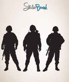 Vinyl Wall Decal Sticker Army Soldiers #852 | Stickerbrand wall art decals, wall graphics and wall murals.