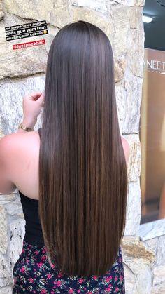 Brown Hairstyles, Straight Hairstyles, Girl Hairstyles, Braided Hairstyles, Long Silky Hair, Long Dark Hair, Beautiful Long Hair, Gorgeous Hair, Pelo Cafe