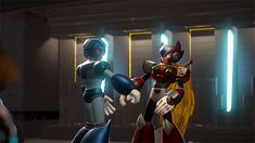 X and Zero Marvel vs Capcom Infinite Akira, Megaman Zero, Megaman Series, Fighting Robots, Fist Bump, I Go Crazy, Fanart, Marvel Vs, Character Design Inspiration