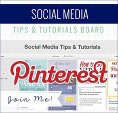Social Media Tips & Tutorials on Pinterest