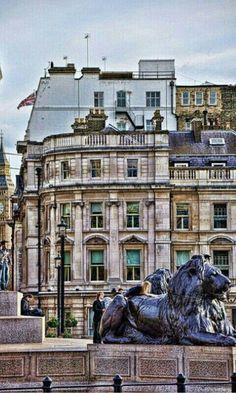 León de TrafalgarSq. ~ Londres, England