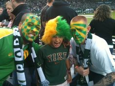 gotta love Timber Fans! face painted soccer fans by www.timehonoredart.com