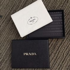 4123af37a026 Prada Box Gift box perfect for a man wallet or small accessory. Comes with  original Prada tissue Prada Bags Wallets
