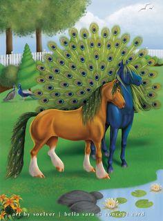 Balto & Juno | Bella Baby I peacock horses