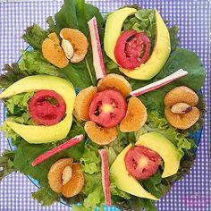 Saladas diferentes e decoradas