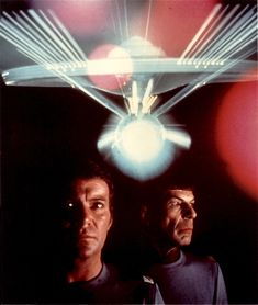 Kirk, Spock and the refit Enterprise from The Motion Picture.