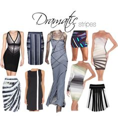 dramatic stripes: asymmetry, irregularity, stylized/near-abstract renderings, monochromatic colour, high-contrast colour