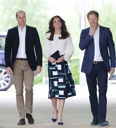 William, Kate and Harry at the launch of Heads Together campaign, London...
