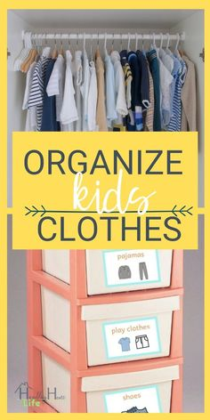 Kindermode Kids closet organization to simplify your morning routine. How to organize the k. Kids Clothes Organization, Small Space Organization, Home Organization Hacks, Organizing Ideas, Organising Tips, Decluttering Ideas, Clutter Organization, Declutter Your Home, Organizing Your Home