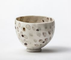 Bowl with celadon spots by woodfirer, via Flickr