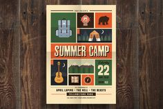 Indie Summer Camp Flyer by Guuver on @creativemarket