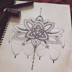 A Collection Of Jank — that-hannah-chick: Triquetra lotus anyon Triquetra, Sternum Tattoo, Lotus Tattoo, Yoga Tattoos, Body Art Tattoos, Small Tattoos, Tatoos, Druid Tattoo, Hamsa Tattoo