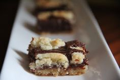 Light and Dark Bars--easy...made with a cake mix