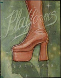 $15.99  Fashion Footwear ART Print Platforms BY Darrin Hoover   eBay