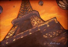 Eiffel 2 by Diana Vega-Pugh from Modern Eden Gallery #Paris