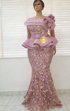 Outfit is Instock - Latest African Fashion Dresses, African Dresses For Women, African Print Dresses, African Print Fashion, African Attire, African Outfits, African Women, Nigerian Lace Styles, African Lace Styles