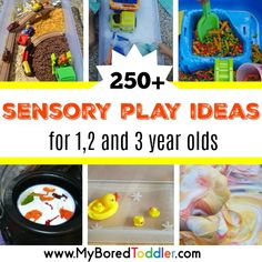 If you're looking for sensory play ideas for toddlers we've got you sorted! We have over 250 toddler sensory play activities for all occasions