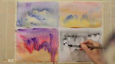 DrawFox. Акварельная живопись для начинающих. 2-3. Образы неба и облаков.