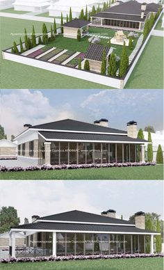 Пример проекта одноэтажного загородного дома село Большой Дальник Одесса Архимас
