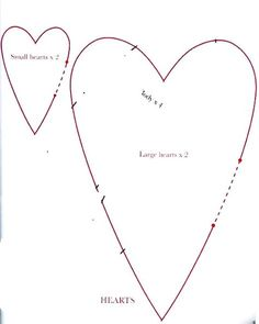 another free heart template....Moldes Para Artesanato em Tecido: Molde Coracao