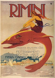 Old Italian tourism poster