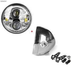 """39.00$  Watch now - http://aliajh.shopchina.info/go.php?t=32803339059 - """"VOSICKY 5.75"""""""" inch led housing bracket mount bucket for Harley with 5.75 inch Motorcycle Led Headlight Lamp Daymaker angel eye"""" 39.00$ #aliexpressideas"""