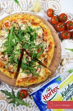 Pizza na spodzie z kalafiora Pizza Recipes, Snack Recipes, Snacks, Aga, Vegetable Pizza, Food And Drink, Vegetables, Cooking, Fitness