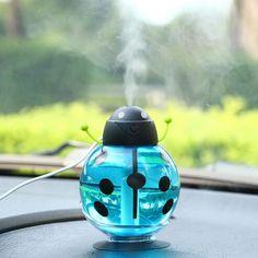 Diffuser Aroma Oil Ultrasonic Humidifier Air Diffuser Mist Maker DC 5V ABS Bottle Led Light For Home Office Car Mist Foger
