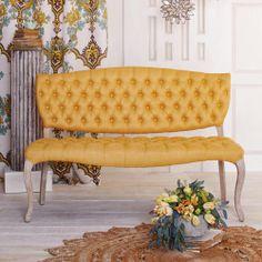 Honey Gold Emma Settee | World Market