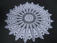 Crocheted Doily White 16 Diameter Lacy Table by CrochetByCarolyn