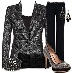 """Black Glamour"" by my-pretend-closet on Polyvore"
