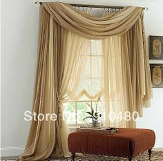 jcp home™ Snow Voile Semi-Sheer Scarf Valance - jcpenney | Wedding ...