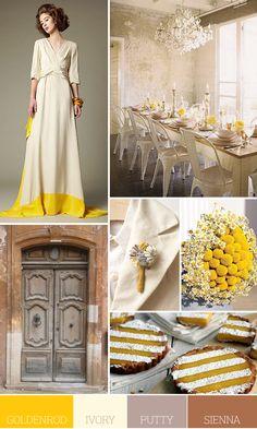 gold ivory wedding inspiration