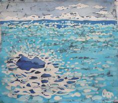 piccolo quadro dipinto a mano in tecnica batik