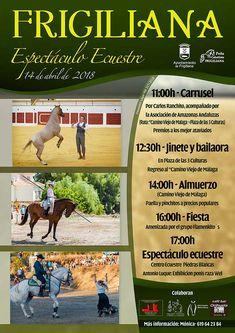 El sábado 14 de abril Frigiliana volverá a ser escenario para una fiesta en la que el caballo y todo lo que lo rodea serán protagonistas.    El espectáculo Ecuestre Villa de Frigiliana 2018 llega a la localidad en una jornada que comenzará a las 11: