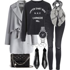 A fashion look from October 2015 by blendingtwostyles featuring Topshop, Chicwish, Acne Studios, STELLA McCARTNEY, Emporio Armani and Tomas Maier