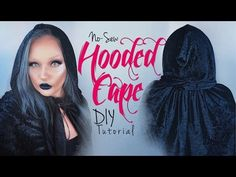 DIY How-To   No-Sew Hooded Sorcerer Style Cape Tutorial for Beginners   Any Fabric - YouTube