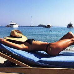 Super Model Alessandra Ambrosio experiencing Santa Marina's Stunning Private Beach