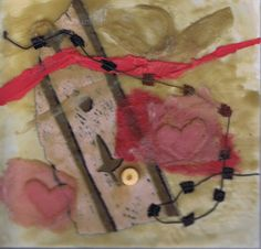 Gallery of artwork by Sharon Giles Pink Hearts, Encaustic Painting, Heart Art, Wax, Paintings, Gallery, Artwork, Work Of Art, Roof Rack