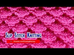 Slip Stitch Knitting #2: Diamond Honeycomb