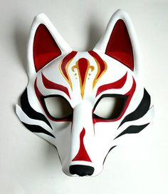 Cet article n'est pas disponible Fox Leather Mask Japanese Fox Mask Kabuki Style Kitsune Wolf Mask Sylized Option Goggle Mask Available Japanese Wolf, Japanese Fox Mask, Kitsune Maske, Mononoke Cosplay, Wolf Mask, Ceramic Mask, Mask Drawing, Cool Masks, Painting Art