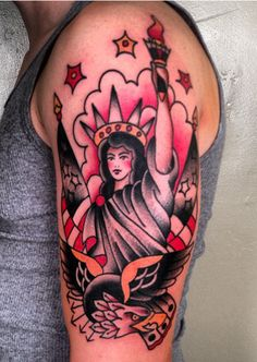 Traditional Statue of Liberty. By Adam at Three Kings in Brooklyn, NY