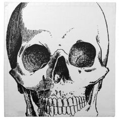 #Skull Cloth Napkin - #halloween #party #stuff #allhalloween All Hallows' Eve All Saints' Eve #Kids & #Adaults