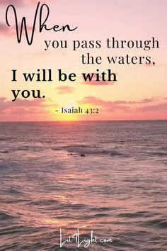 The Lord is with you even as you go through Jesus Quotes, Faith Quotes, Bible Quotes, Motivational Quotes, Christian Life, Christian Quotes, Christian Living, Psalm 119 105, Cute Couples Photos