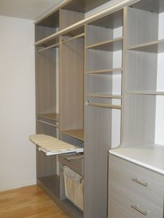 Kauai Master Closet - Driftwood & Arctic White - modern - closet - hawaii - Organized Hawaii