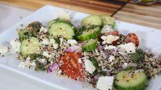 Quinoa salad with feta and fresh herbs